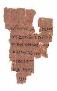 Rylands Library Papyrus P52,