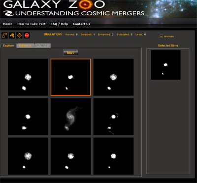 Galaxy Zoo screenshot
