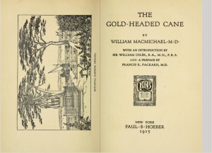 Image of the title page of the Golden Headed Cane