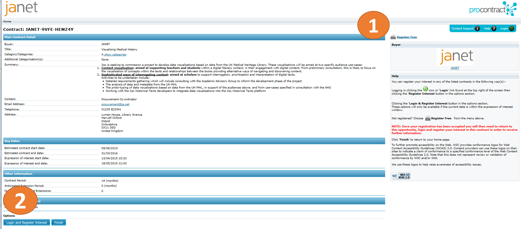 Visualising medical history invitation to tender now live jisc janet screenshot stopboris Choice Image